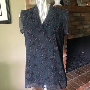 CAbi Evermore Blouse #3065 Flutter Sleeves Sz S